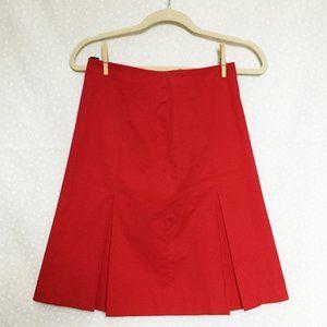 ***SOLD*** Vintage Club Monaco red pleated skirt